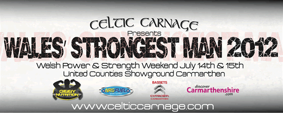 Wales' Strongest Man 2012 Banner